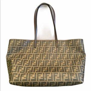FENDI Zucca Roll Bag